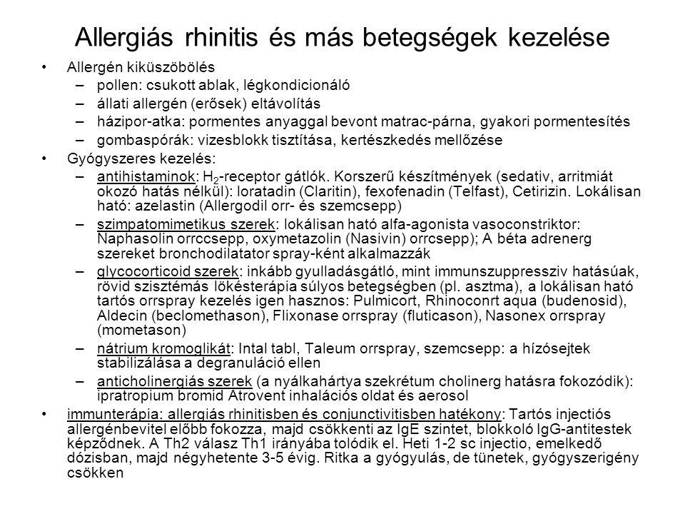 Allergiás rhinitis és más betegségek kezelése