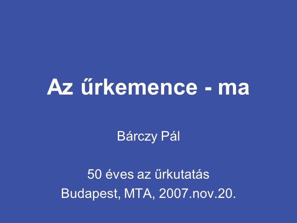 Bárczy Pál 50 éves az űrkutatás Budapest, MTA, 2007.nov.20.