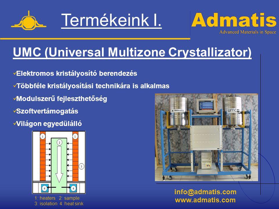 Termékeink I. UMC (Universal Multizone Crystallizator)