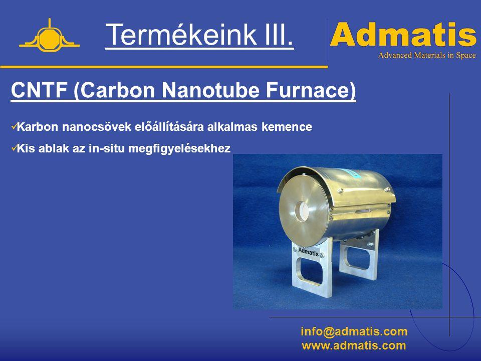Termékeink III. CNTF (Carbon Nanotube Furnace)