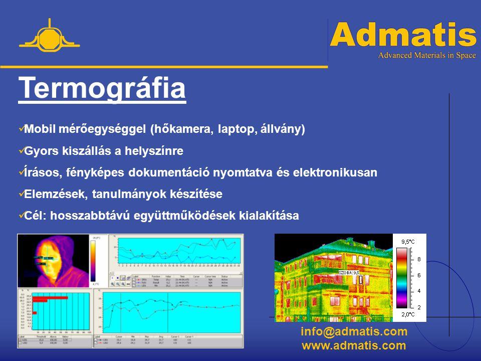 Termográfia Mobil mérőegységgel (hőkamera, laptop, állvány)