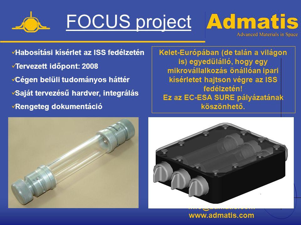 FOCUS project Habosítási kísérlet az ISS fedélzetén