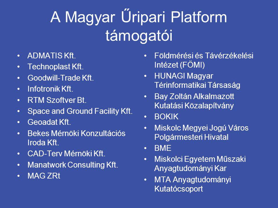A Magyar Űripari Platform támogatói