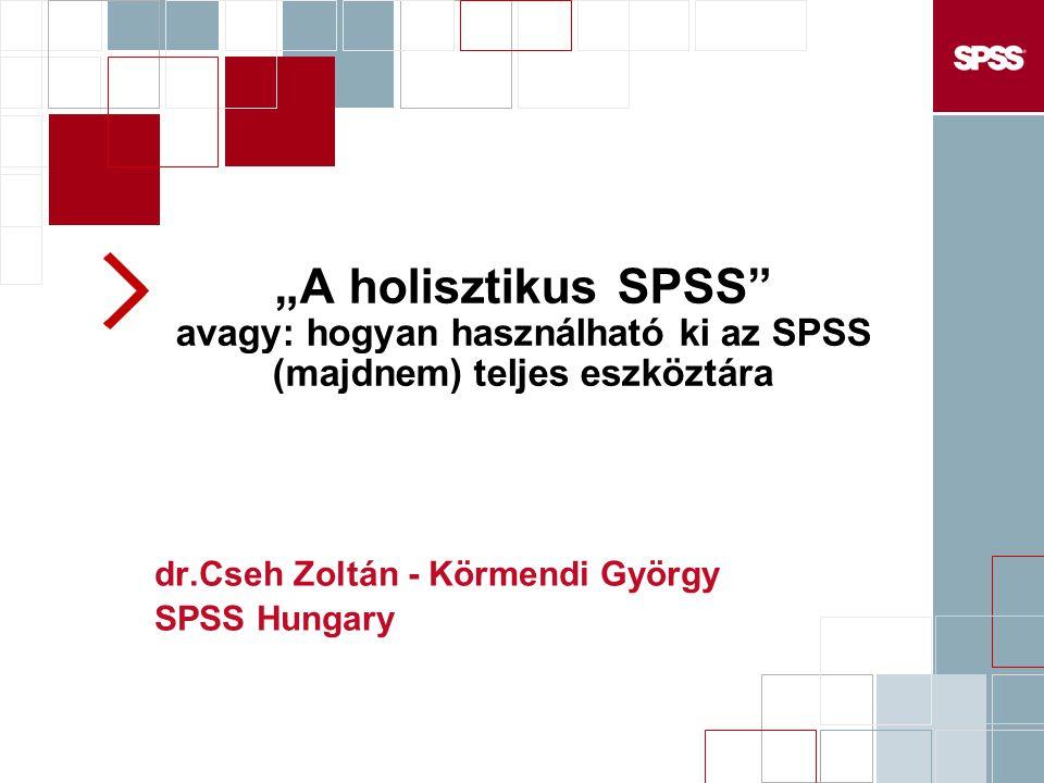 dr.Cseh Zoltán - Körmendi György SPSS Hungary