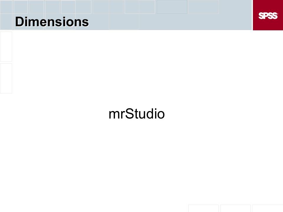 Dimensions mrStudio