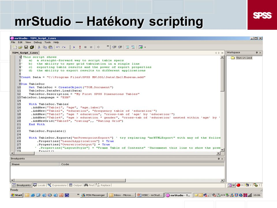 mrStudio – Hatékony scripting