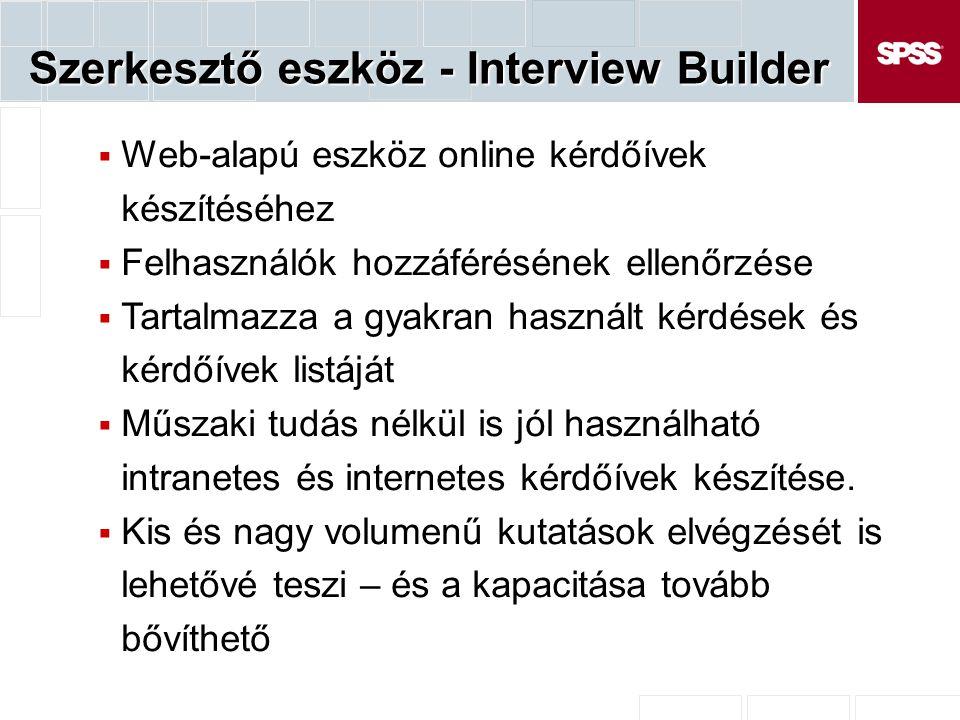 Szerkesztő eszköz - Interview Builder