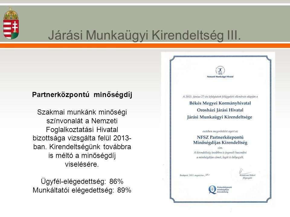 Partnerközpontú minőségdíj