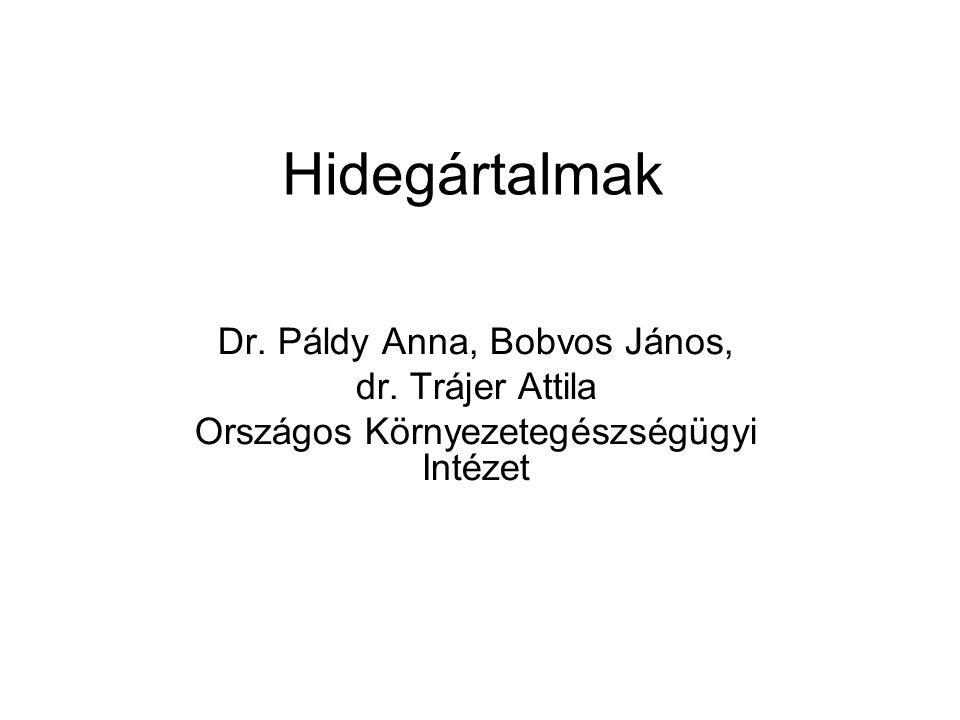 Hidegártalmak Dr. Páldy Anna, Bobvos János, dr. Trájer Attila