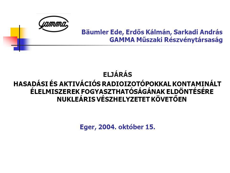 Bäumler Ede, Erdős Kálmán, Sarkadi András GAMMA Műszaki Részvénytársaság