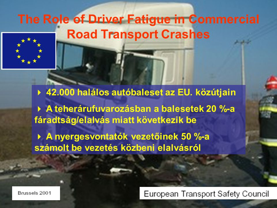 The Role of Driver Fatigue in Commercial Road Transport Crashes