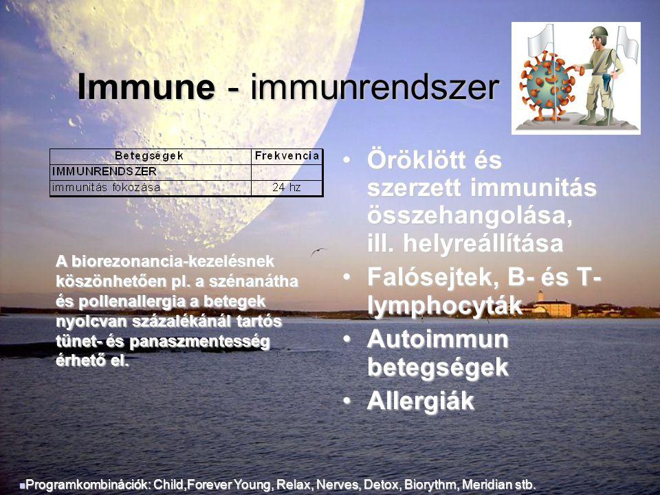 Immune - immunrendszer