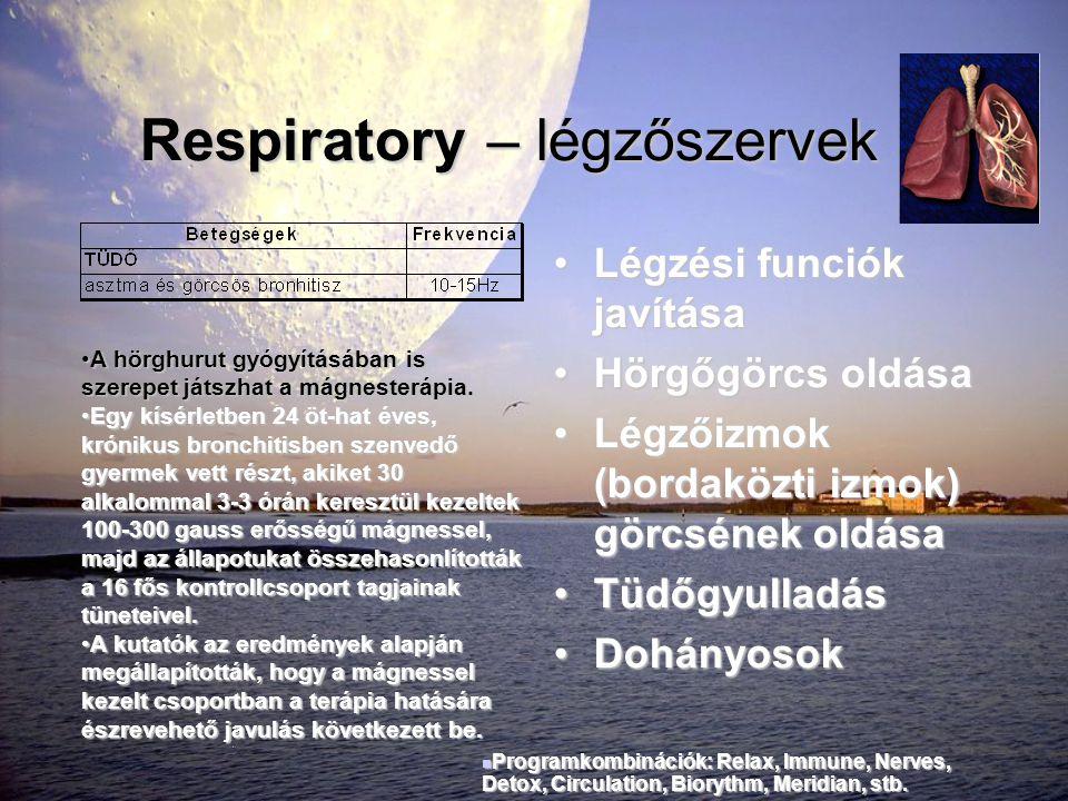 Respiratory – légzőszervek