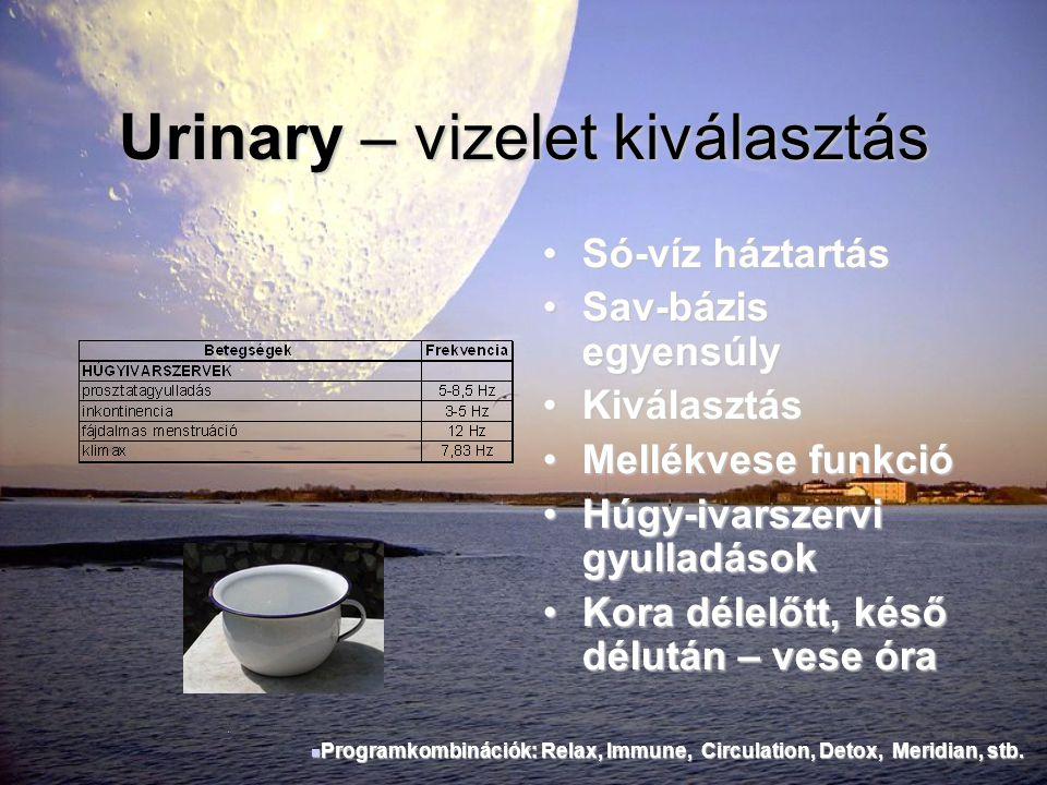 Urinary – vizelet kiválasztás