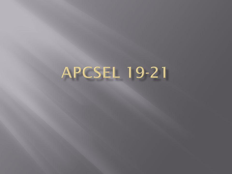 ApCsel 19-21