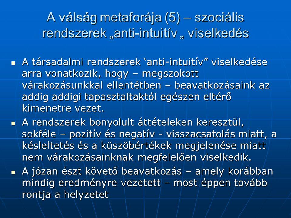"""A válság metaforája (5) – szociális rendszerek """"anti-intuitív """" viselkedés"""
