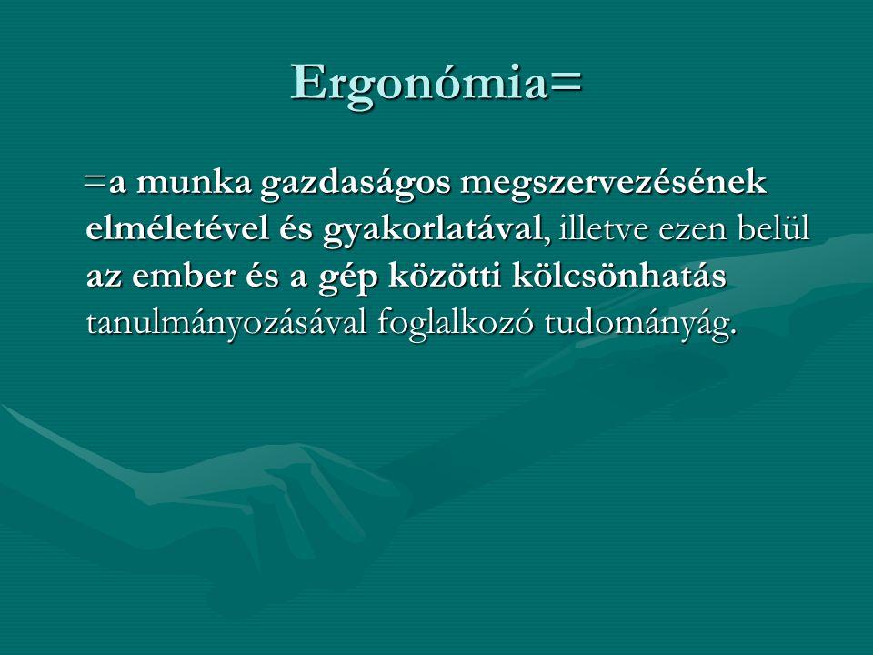 Ergonómia=