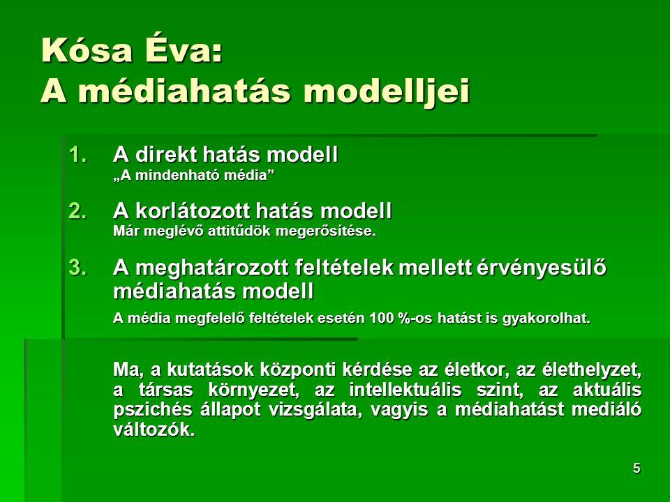 Kósa Éva: A médiahatás modelljei