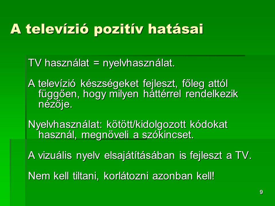 A televízió pozitív hatásai