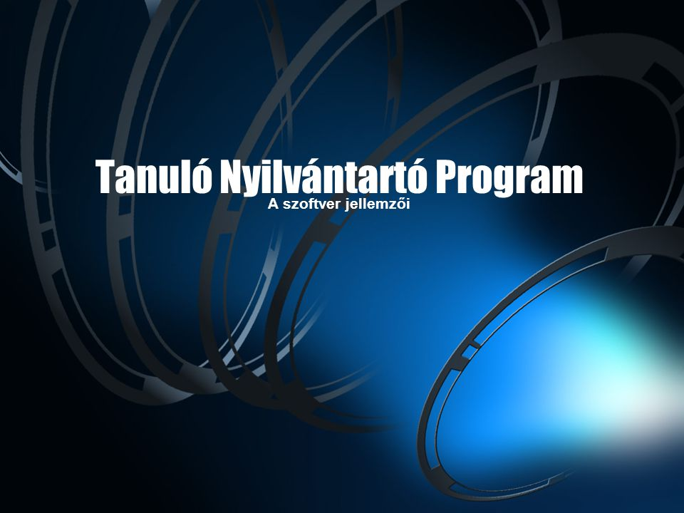 Tanuló Nyilvántartó Program