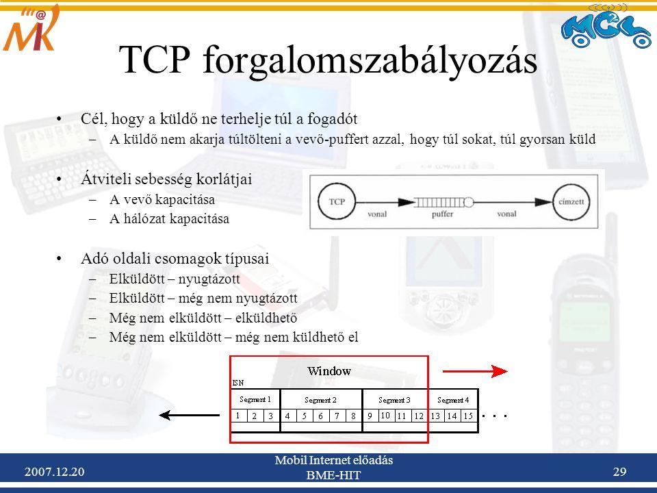 TCP forgalomszabályozás