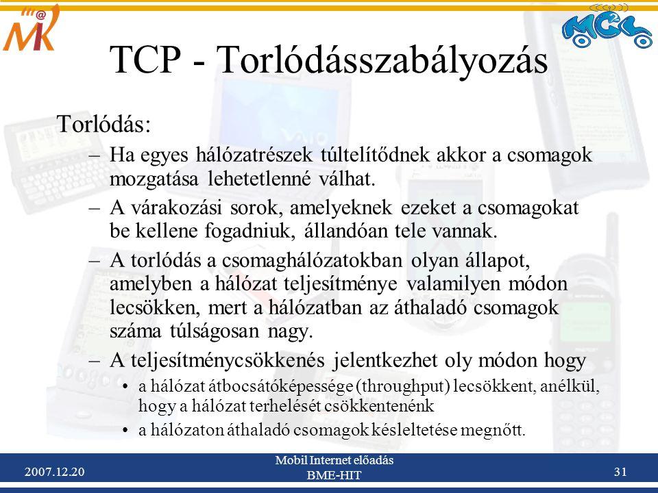 TCP - Torlódásszabályozás
