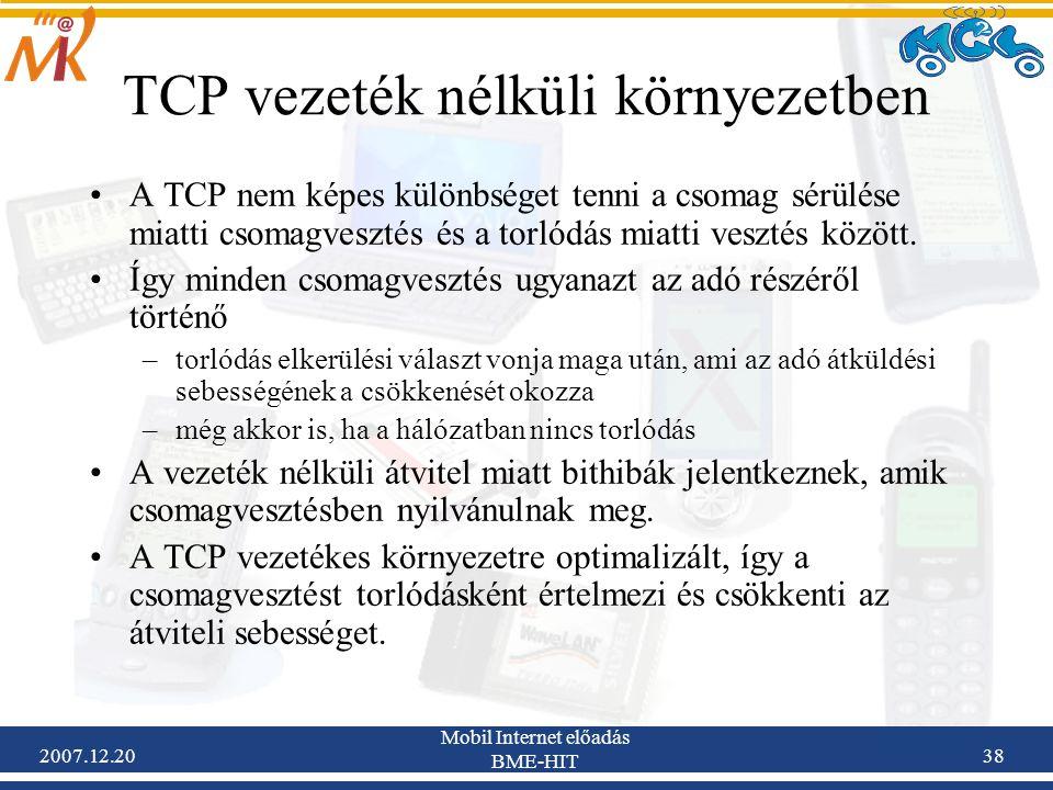 TCP vezeték nélküli környezetben