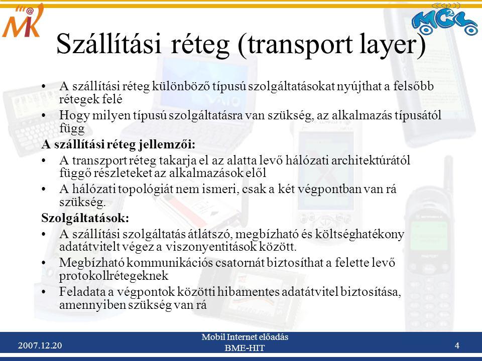 Szállítási réteg (transport layer)