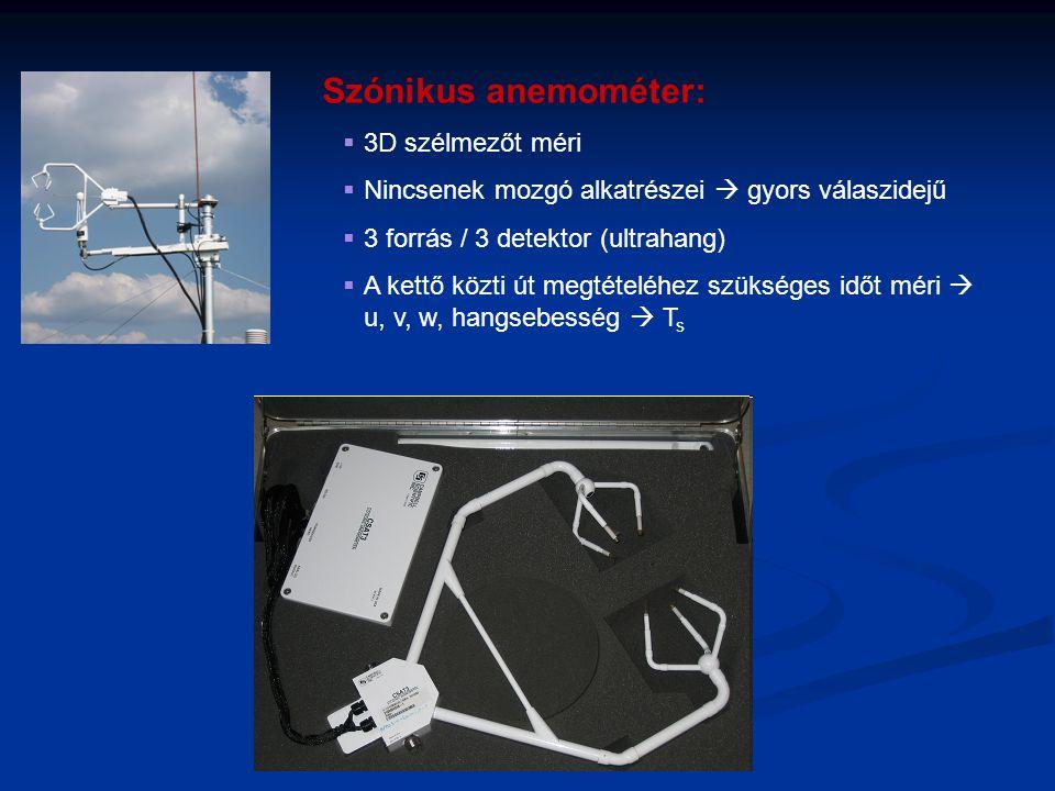 Szónikus anemométer: 3D szélmezőt méri