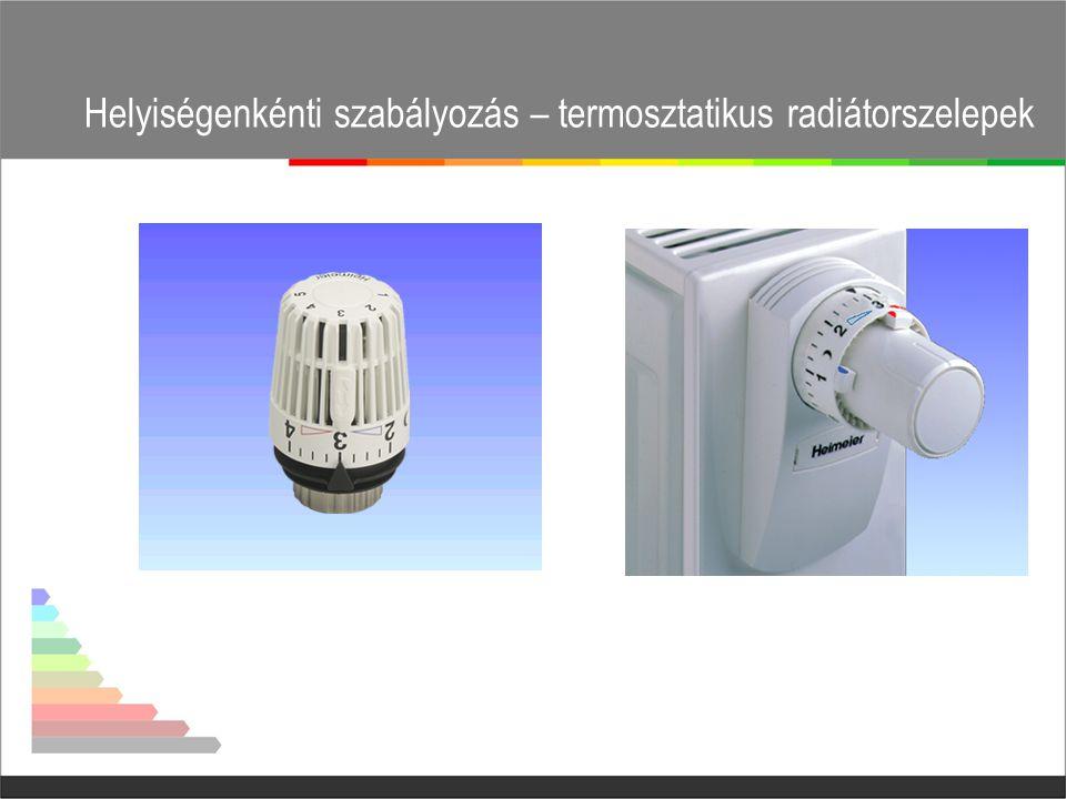 Helyiségenkénti szabályozás – termosztatikus radiátorszelepek