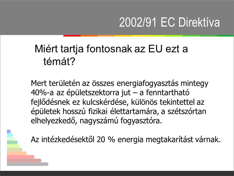 2002/91 EC Direktíva Miért tartja fontosnak az EU ezt a témát