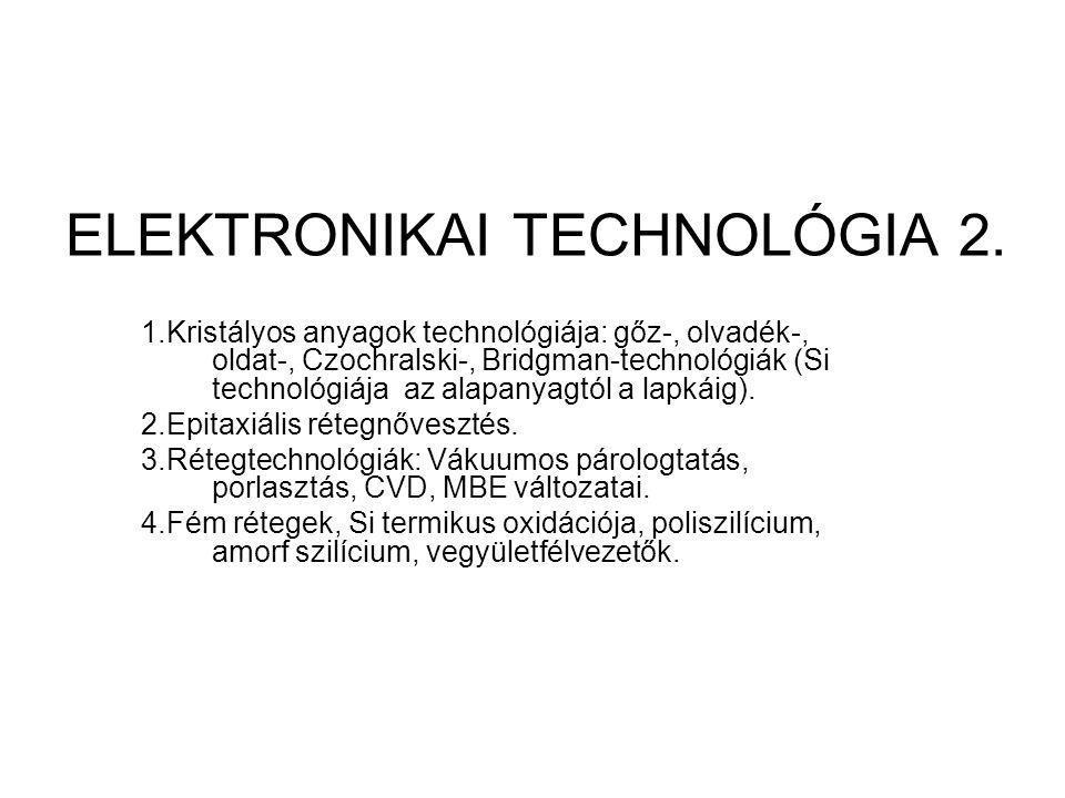 ELEKTRONIKAI TECHNOLÓGIA 2.