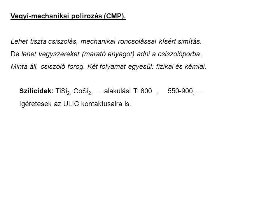Vegyi-mechanikai polirozás (CMP).