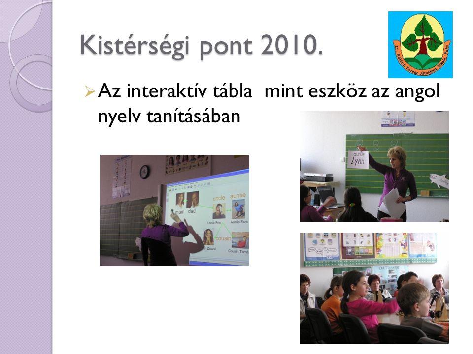 Kistérségi pont 2010. Az interaktív tábla mint eszköz az angol nyelv tanításában