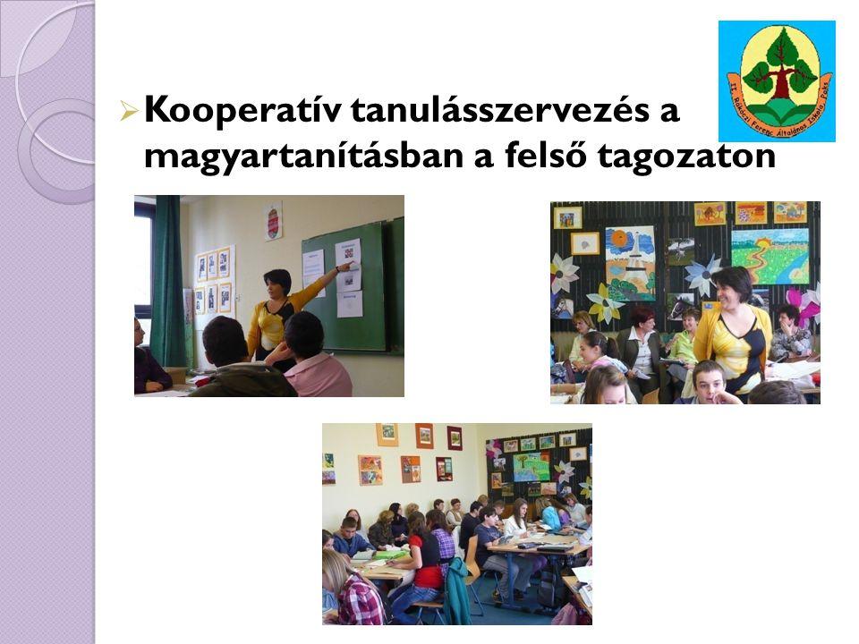 Kooperatív tanulásszervezés a magyartanításban a felső tagozaton