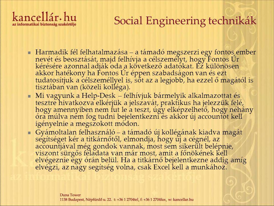Social Engineering technikák