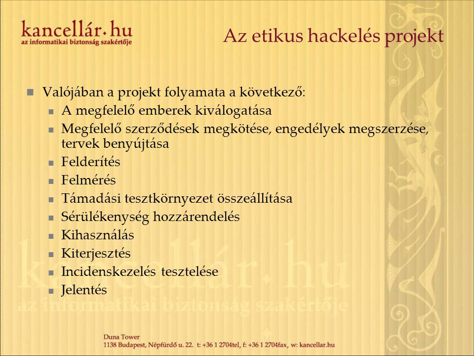 Az etikus hackelés projekt