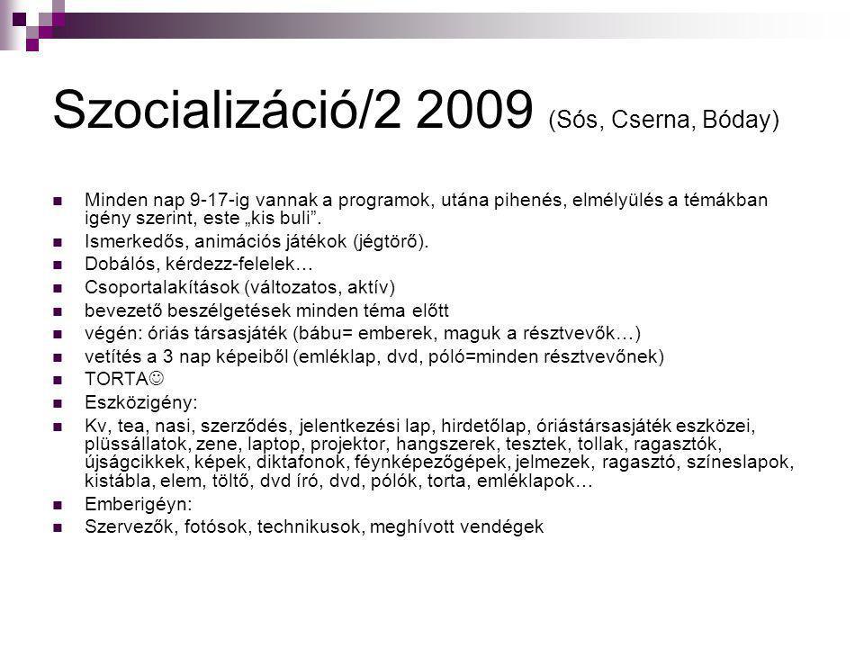 Szocializáció/2 2009 (Sós, Cserna, Bóday)