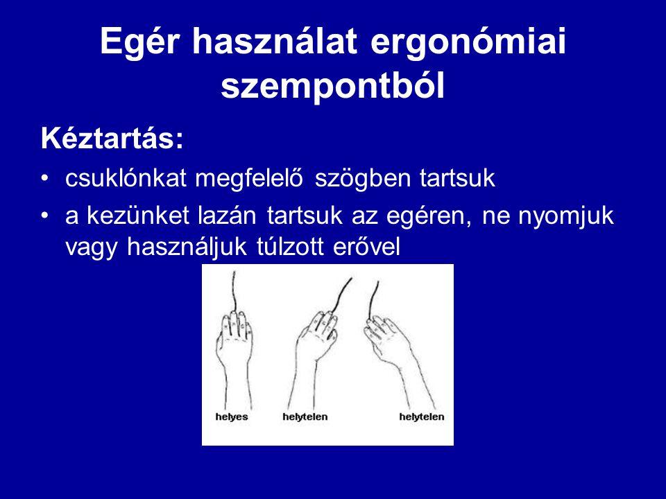 Egér használat ergonómiai szempontból