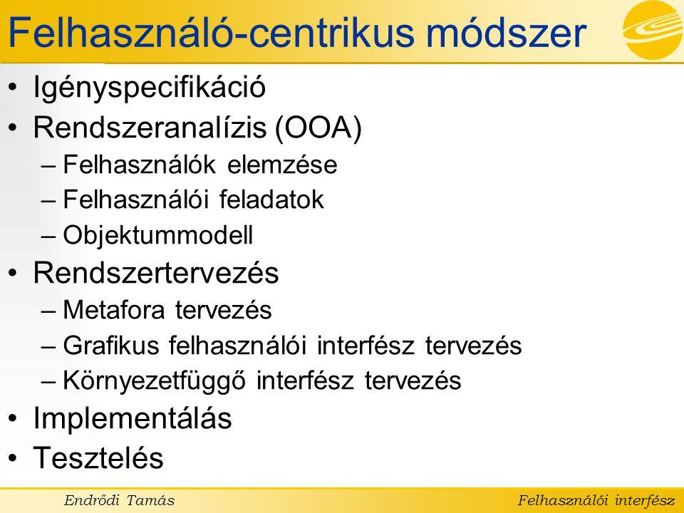 Felhasználó-centrikus módszer