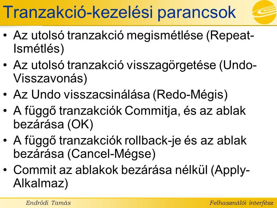 Tranzakció-kezelési parancsok