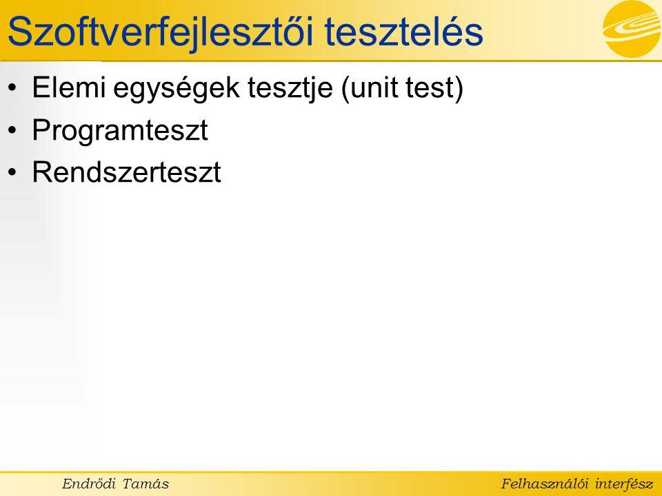 Szoftverfejlesztői tesztelés