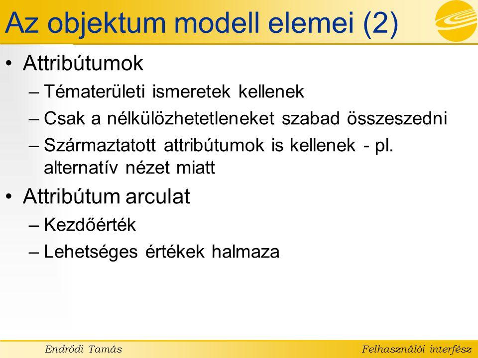 Az objektum modell elemei (2)