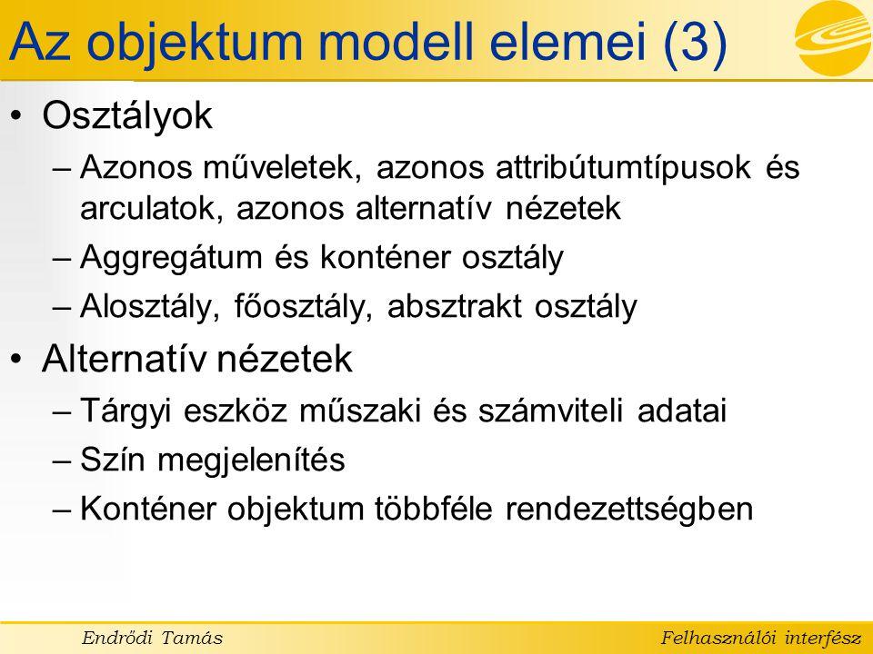 Az objektum modell elemei (3)