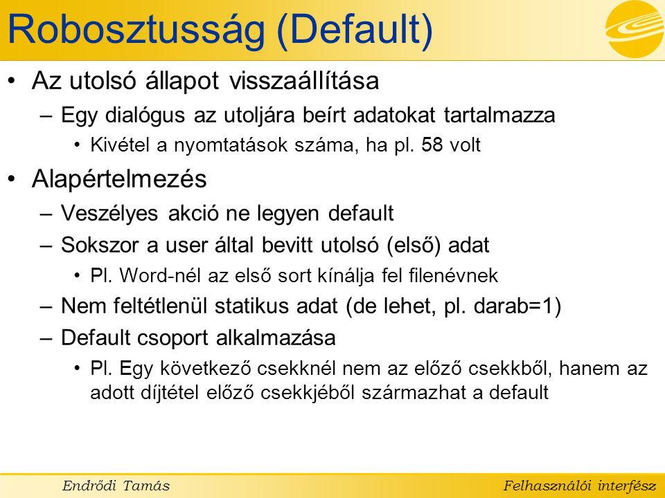 Robosztusság (Default)
