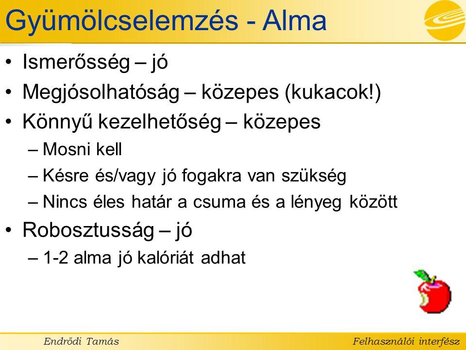Gyümölcselemzés - Alma