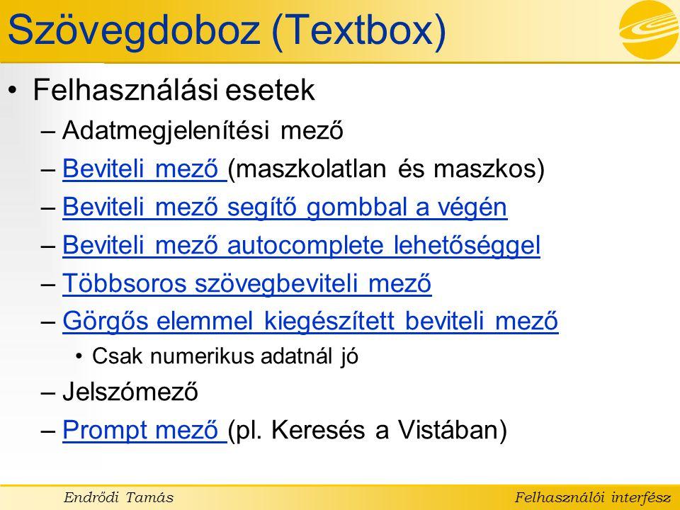 Szövegdoboz (Textbox)