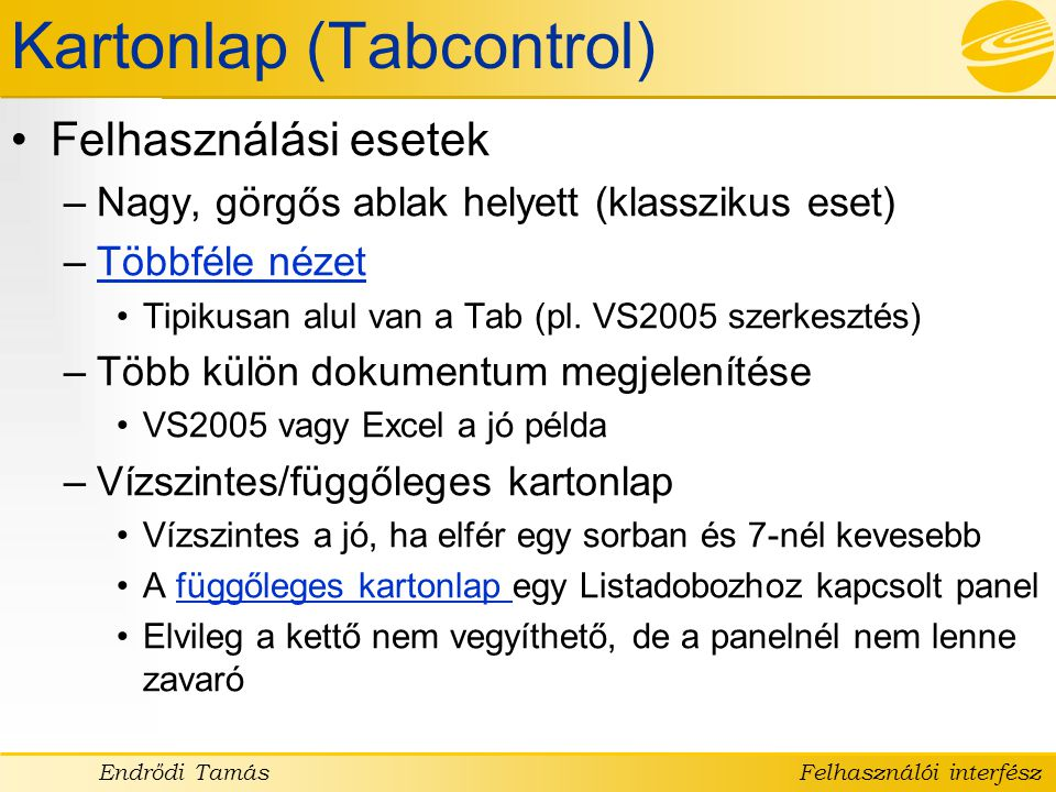 Kartonlap (Tabcontrol)