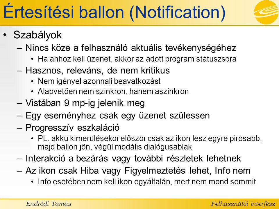 Értesítési ballon (Notification)