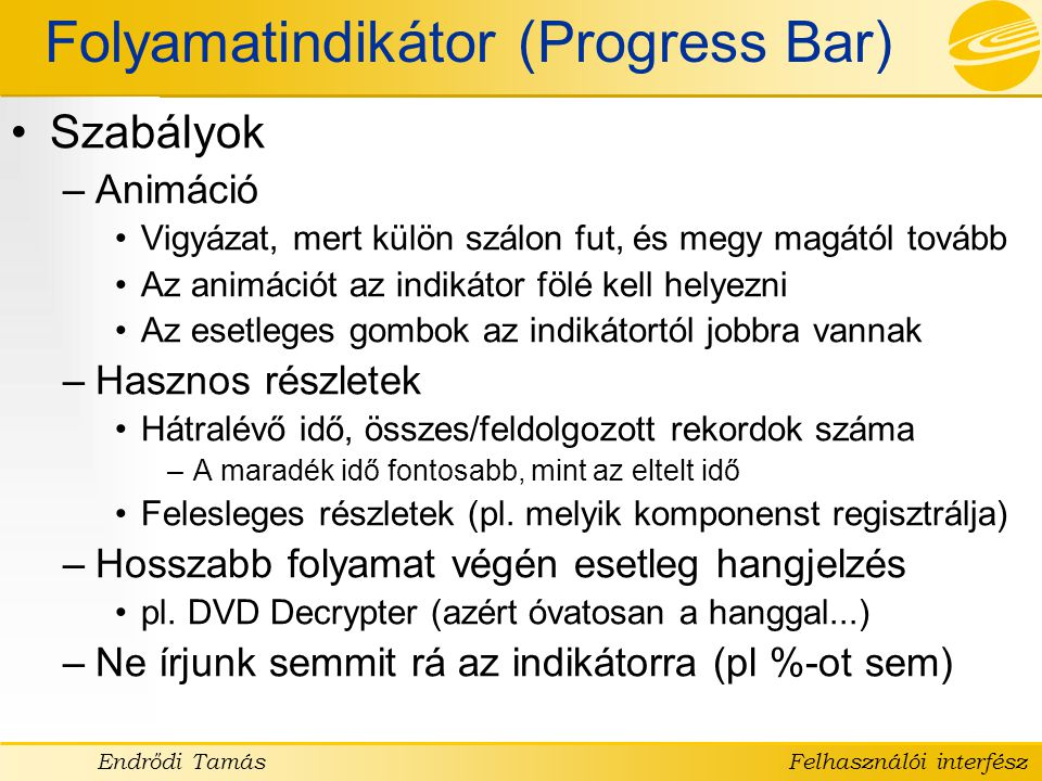 Folyamatindikátor (Progress Bar)